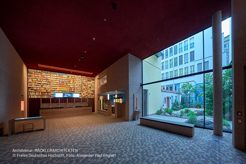 Foyer im Deutsche Romantik-Museum – Architektur: MÄCKLERARCHITEKTEN © Freies Deutsches Hochstift, Foto: Alexander Paul Englert
