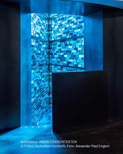 Blauer Erker – Architektur: MÄCKLERARCHITEKTEN © Freies Deutsches Hochstift, Foto: Alexander Paul Englert
